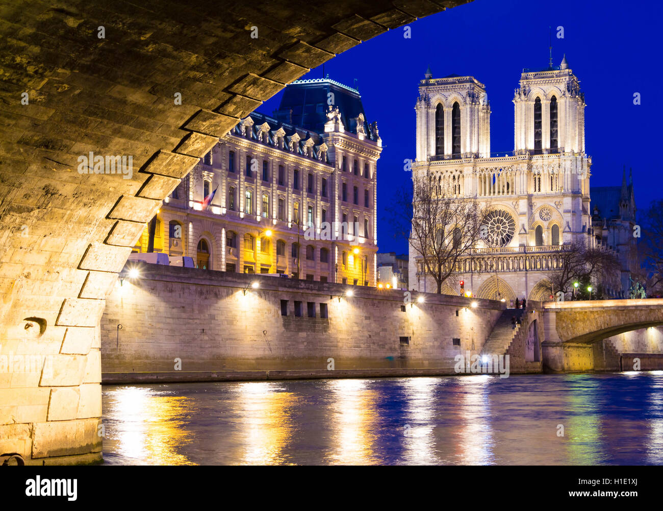 Die katholische Notre Dame Kathedrale, Paris, Frankreich. Stockbild