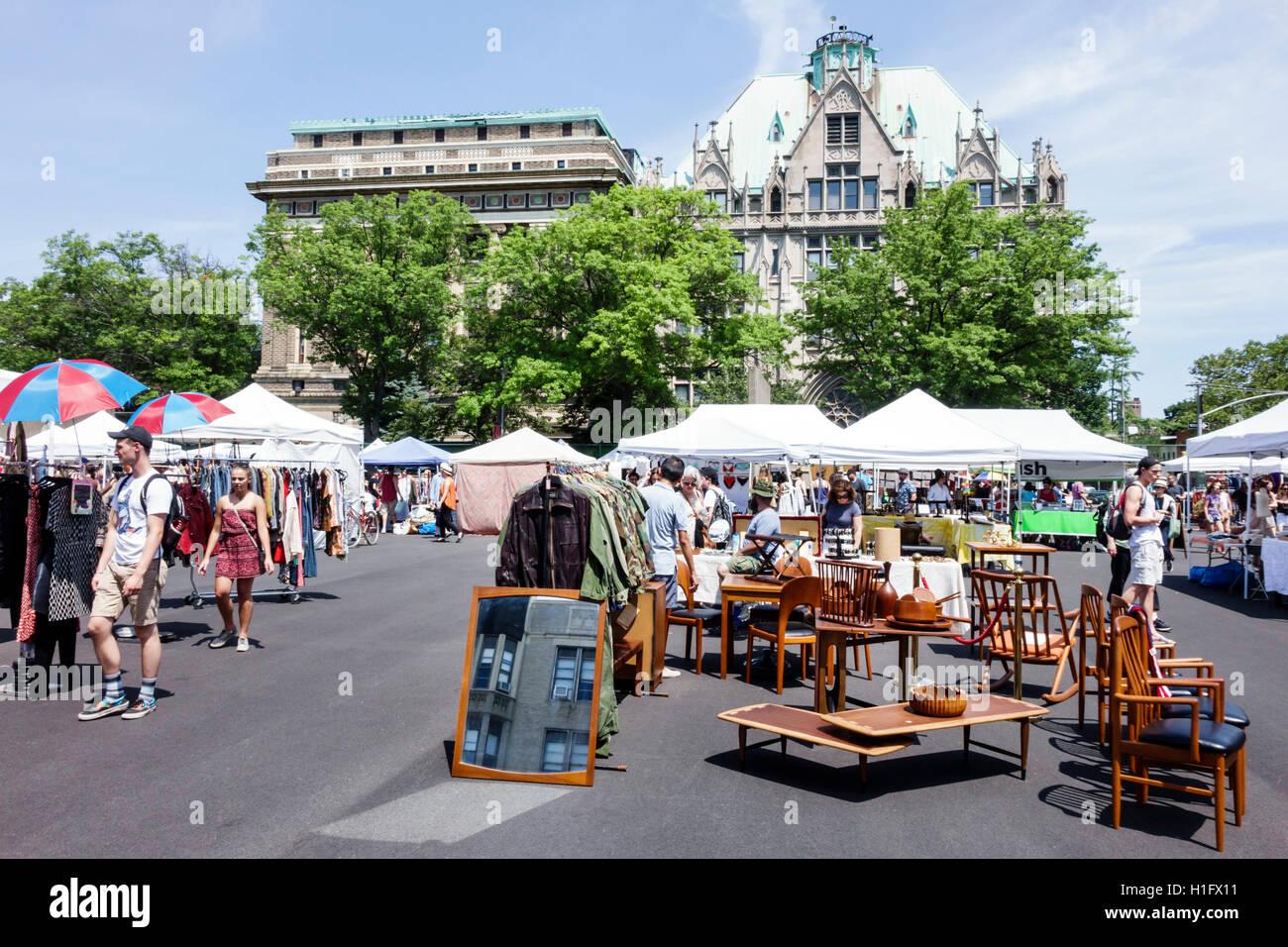 brooklyn new york city nyc ny fort greene flohmarkt open-air