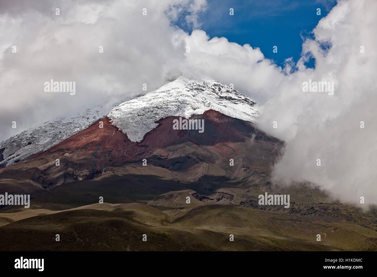 Vulkan Cotopaxi, Cotopaxi-Nationalpark in Ecuador Stockbild