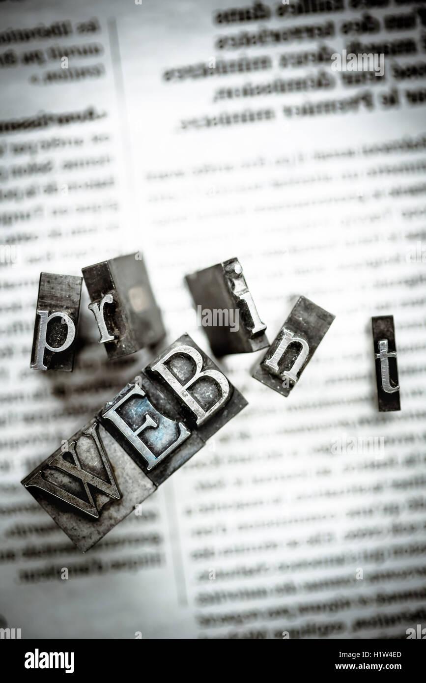 Konzept der Medien. Stockbild