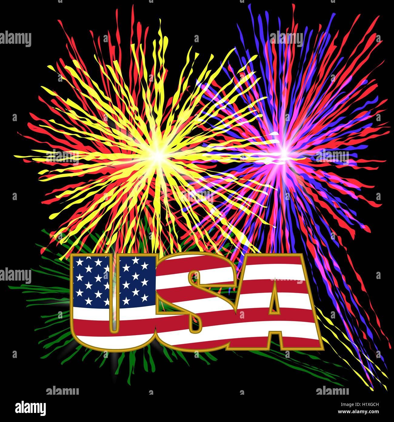 US-Inschrift stilisierte Flagge Farben in einem Goldrahmen auf einem ...