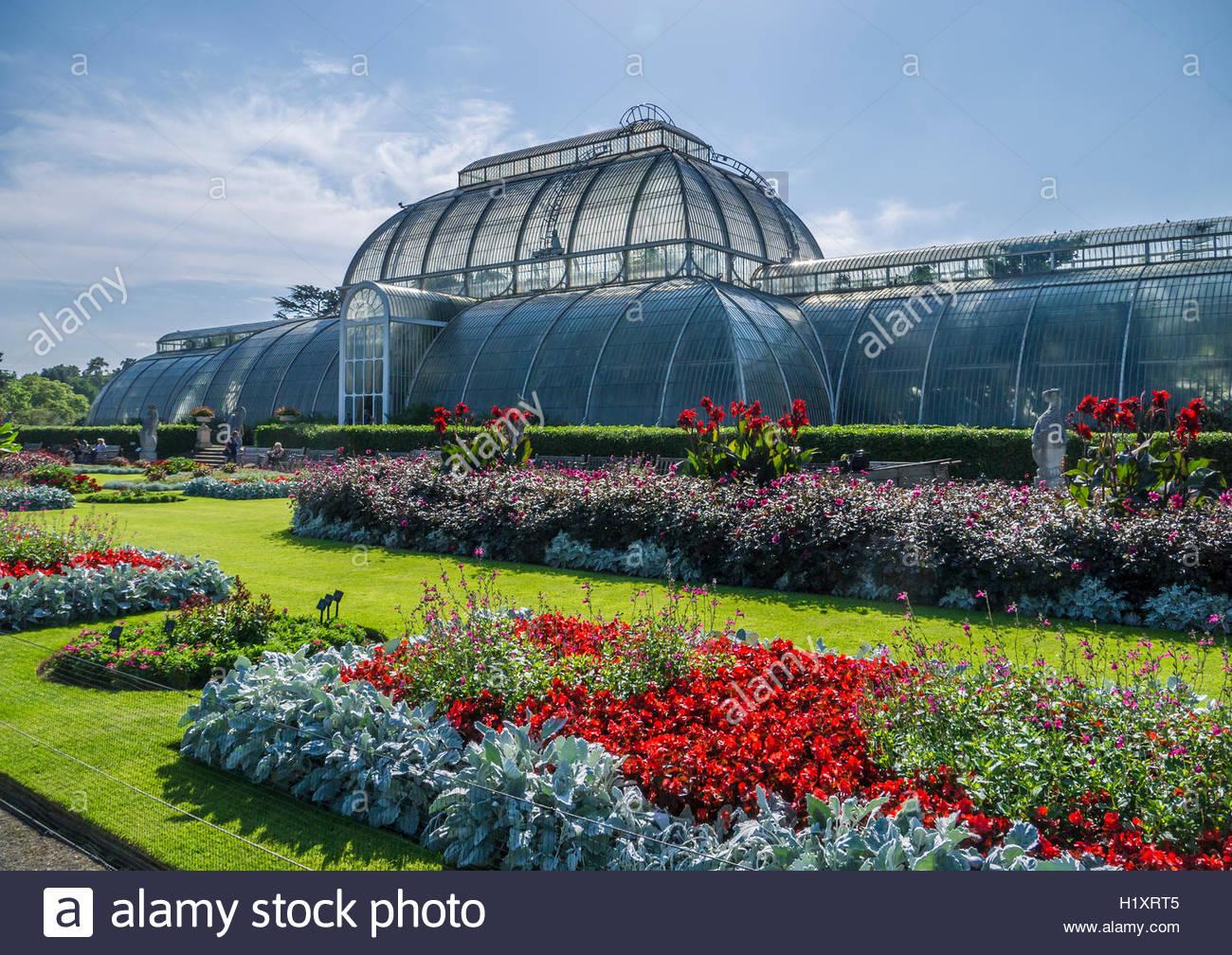 Kew Gardens England das Palmenhaus Stockbild