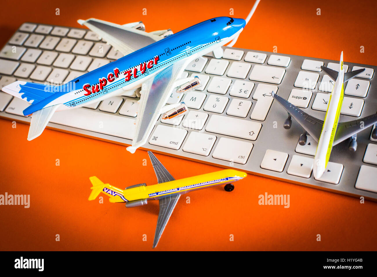 Tourismus: Online-Kauf von Reisen. Stockbild
