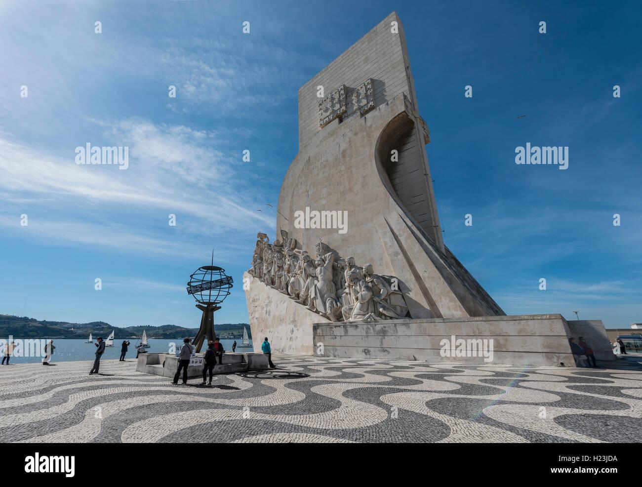 Padrão dos Descobrimentos, das Denkmal der Entdeckungen, Belém, Lissabon, Portugal Stockbild