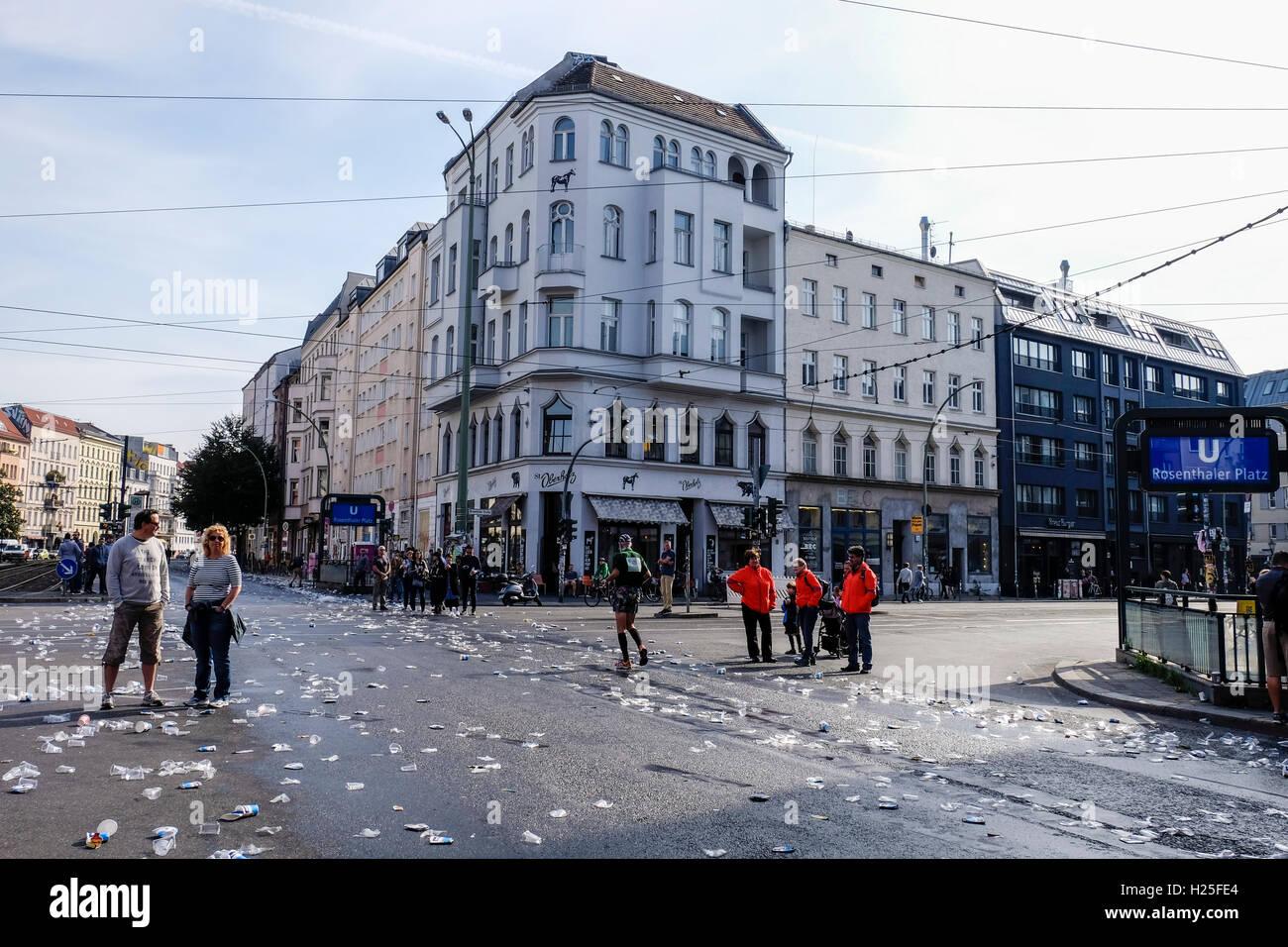 Berlin Deutschland 25 September 2016 Berlin Marathon An Der 10