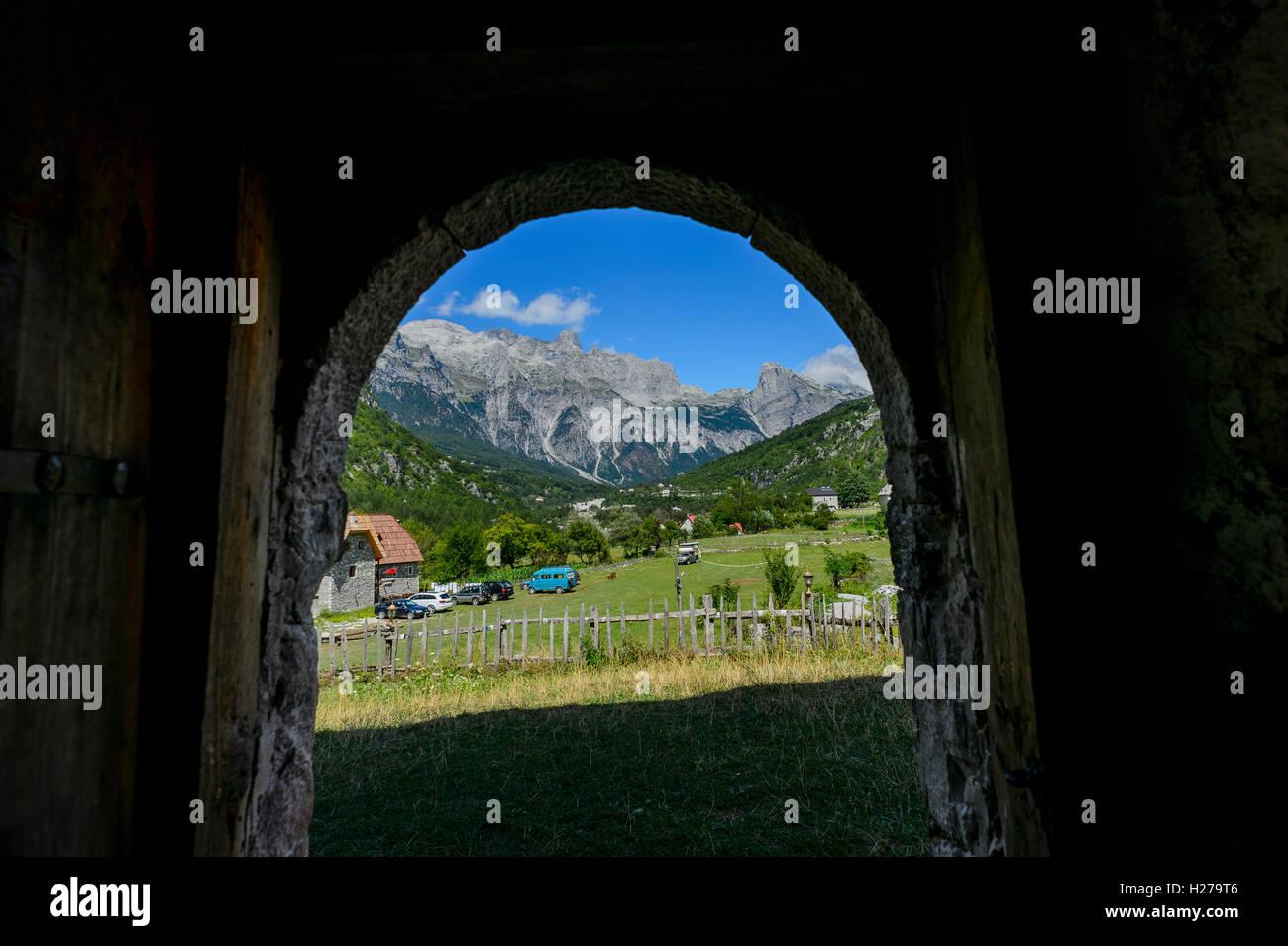 Albanische Alpen Stockfoto