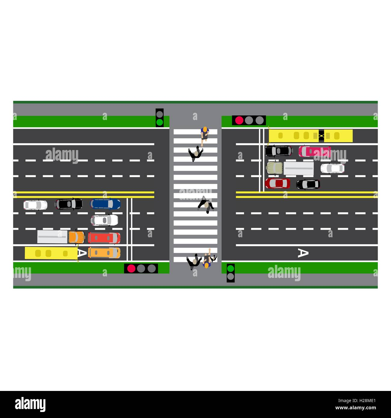 City Street Map Diagram Stockfotos & City Street Map Diagram Bilder ...