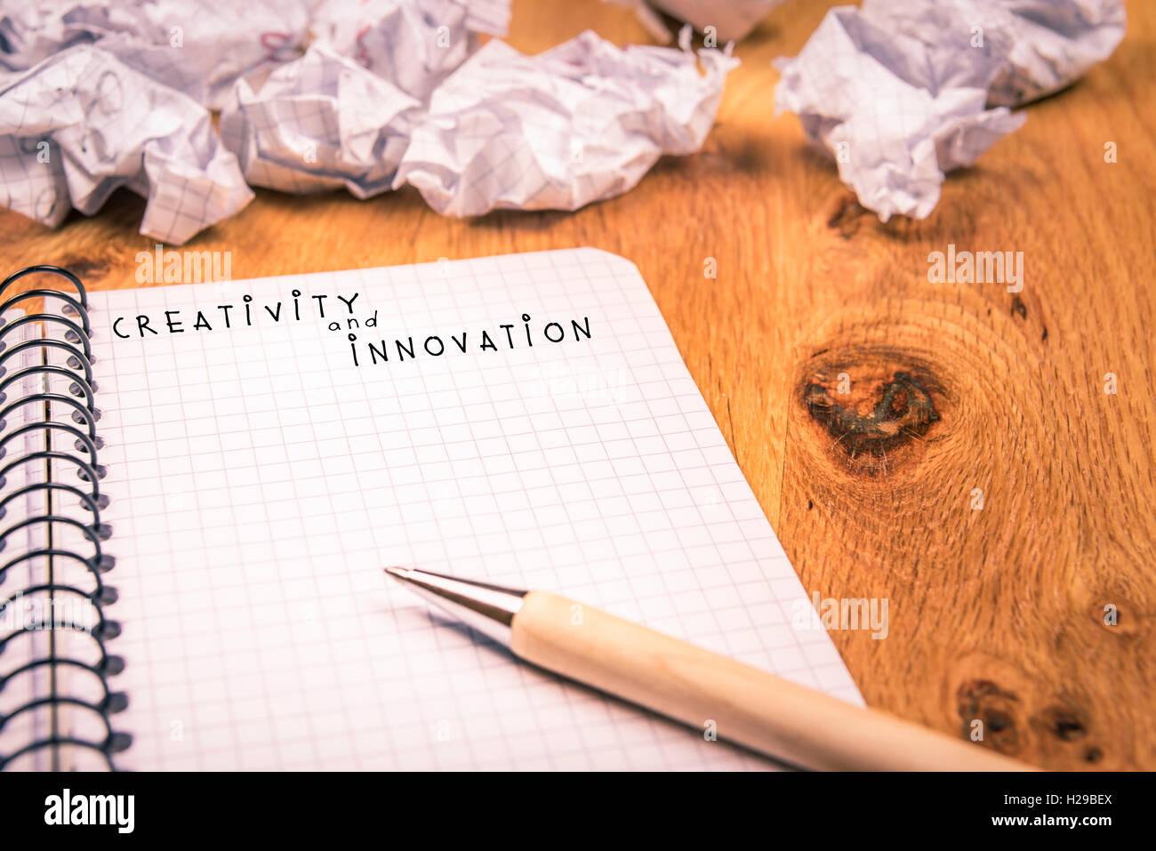 Kreativität und Innovation-Konzept Stockbild