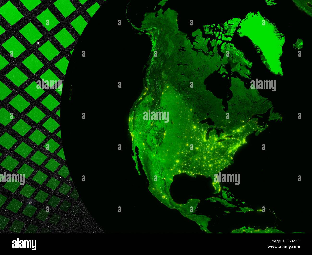 Nordamerika-Technologie-Konzept Stockbild