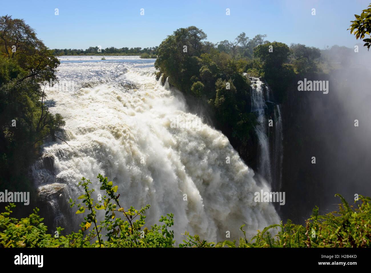 Fluss Sambesi, Victoria Falls, Sambia und Simbabwe, Afrika Stockfoto