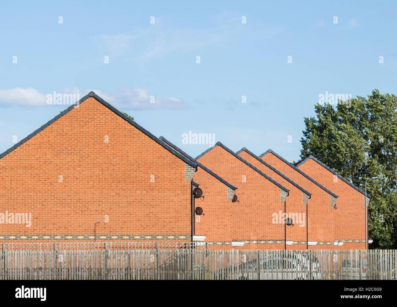 Vor kurzem erbauten Häuser im Nordosten Englands. UK Stockbild