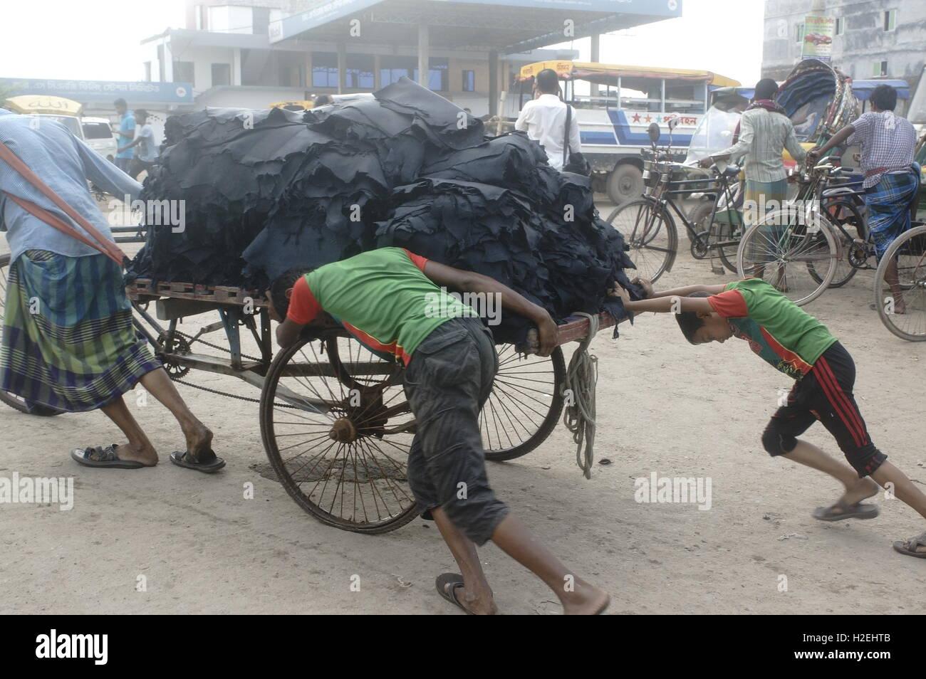 Dhaka Bangladesch 27 Sep 2016 Bangladeshi Leder Industrie