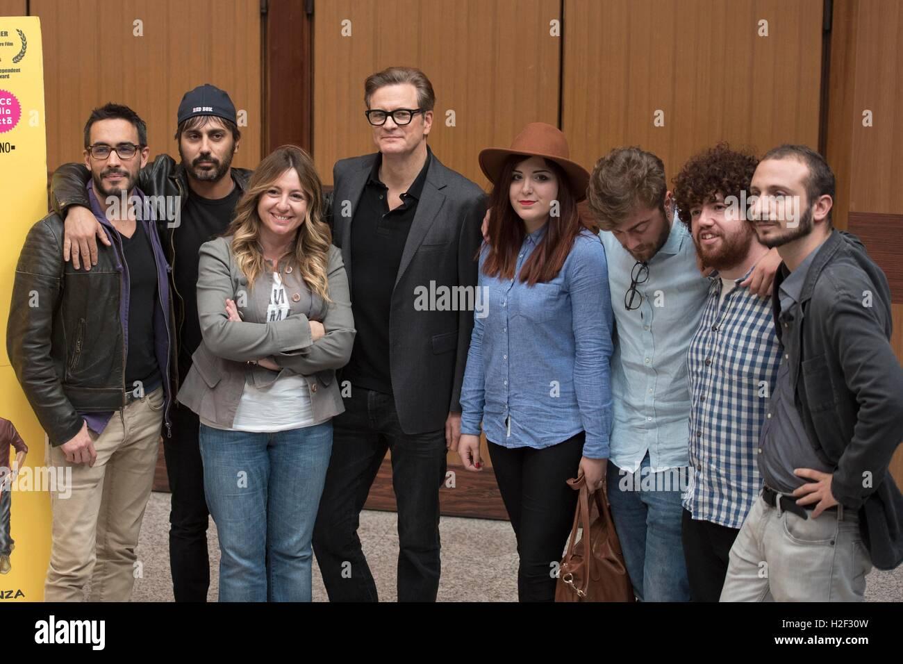 """Italien, Rom, 27. Oktober 2016: britischer Schauspieler Colin Firth Fototermin des italienischen Films besucht """"In Stockbild"""