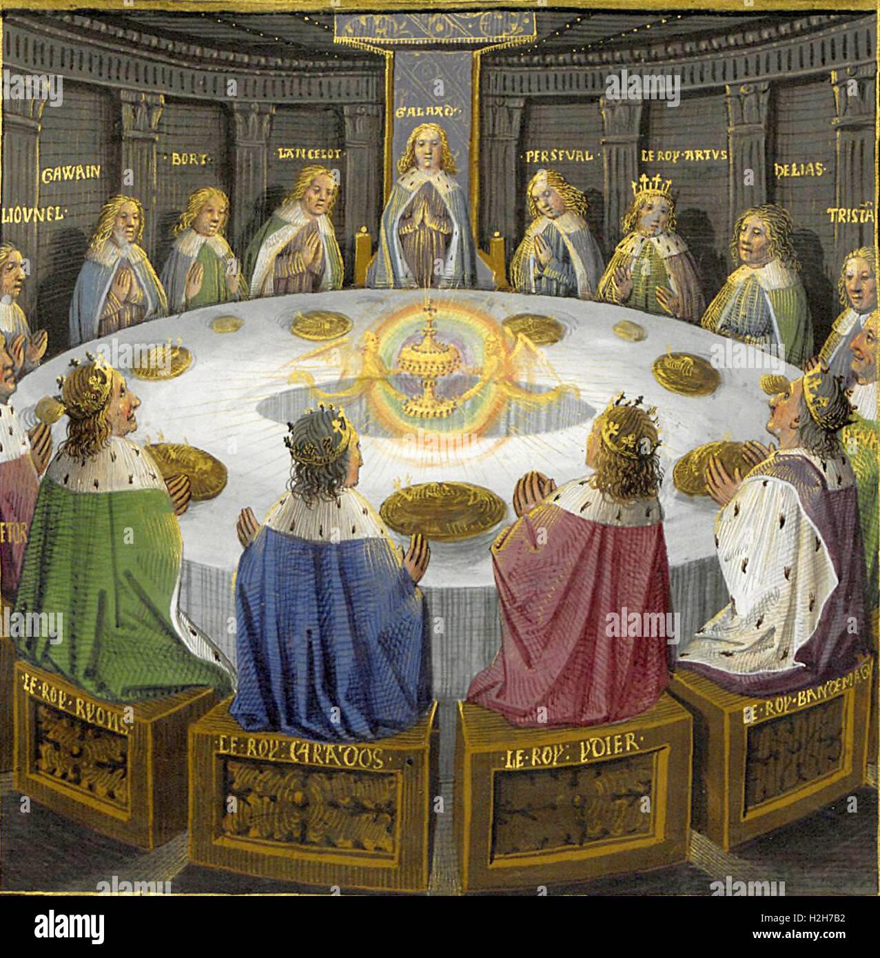Runder Tisch König Arthur Stockfotos Runder Tisch König Arthur