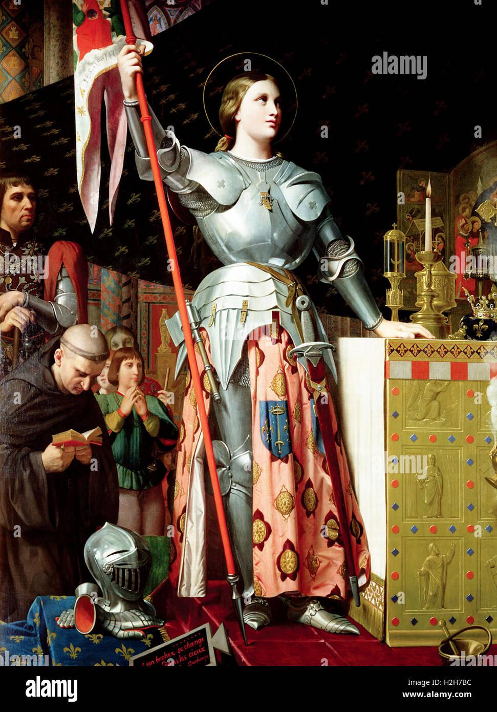 """""""Jeanne d'Arc """" Jeanne d'Arc bei der Krönung von Karl VII. Stockbild"""