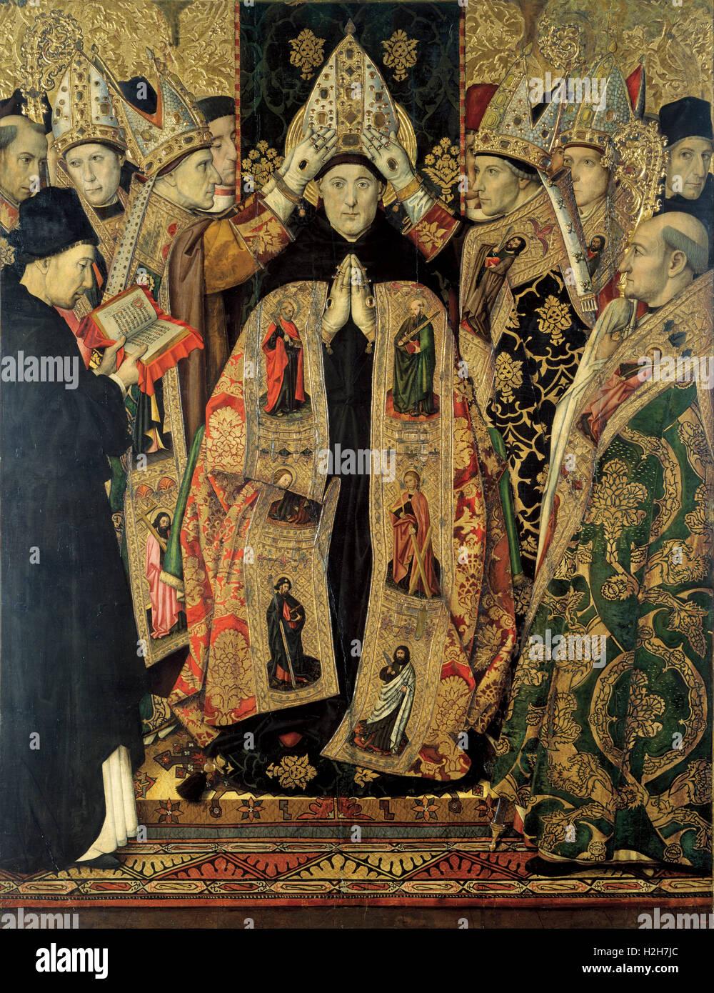 Die Weihe des Heiligen Augustinus Stockbild