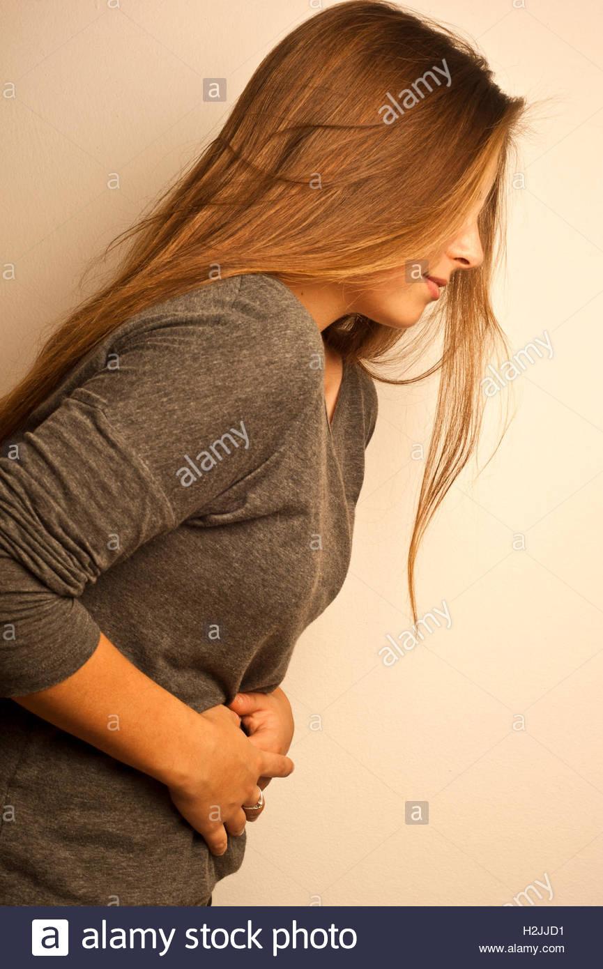 Magenschmerzen Stockbild