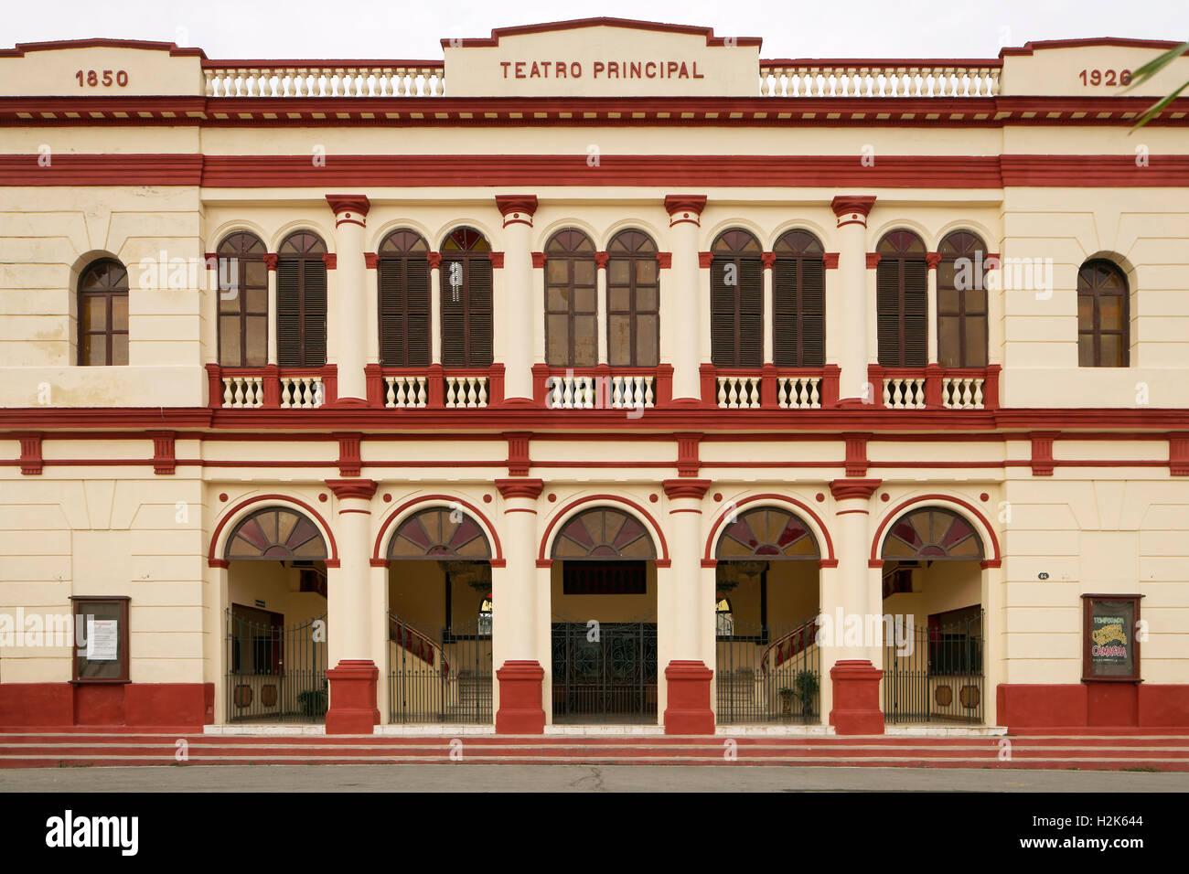 Teatro Principal, 1850 gegründet, Kolonialstil, Camagüey, Provinz Camagüey, Kuba Stockbild