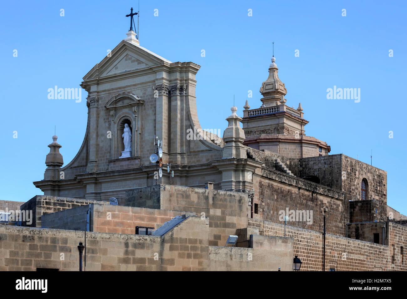 Kathedrale, Cittadella, Victoria, Gozo, Malta Stockbild