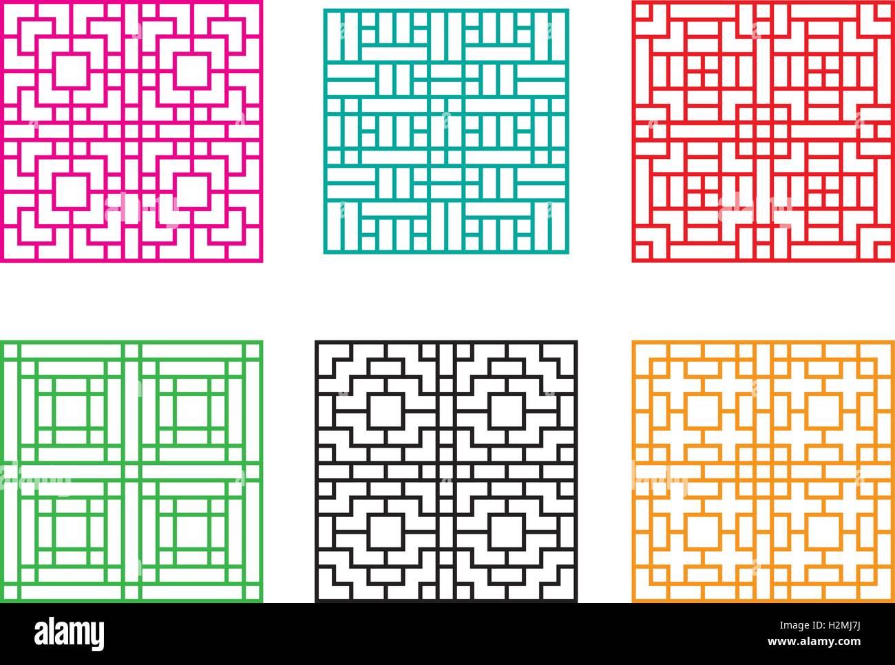 Japanische Wand japanische zierde für tür fenster wand und zaun vektor vektor