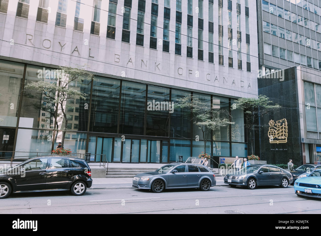 Royal Bank Turm Büroeingang Stockbild