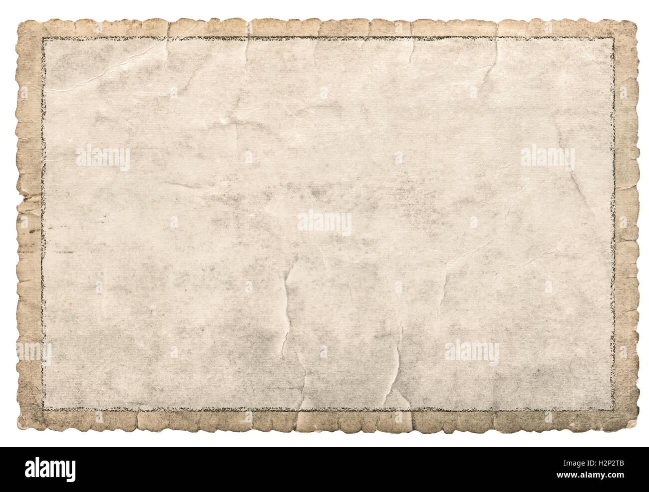 Alte Papier Rahmen für Fotos und Bilder. Verwendet Karton Textur mit ...