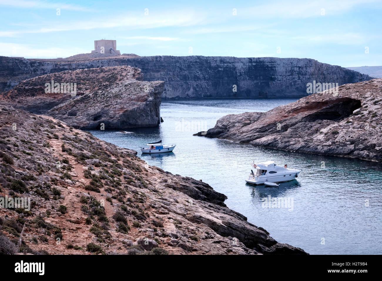 Comino Turm, Comino, Gozo, Malta Stockbild