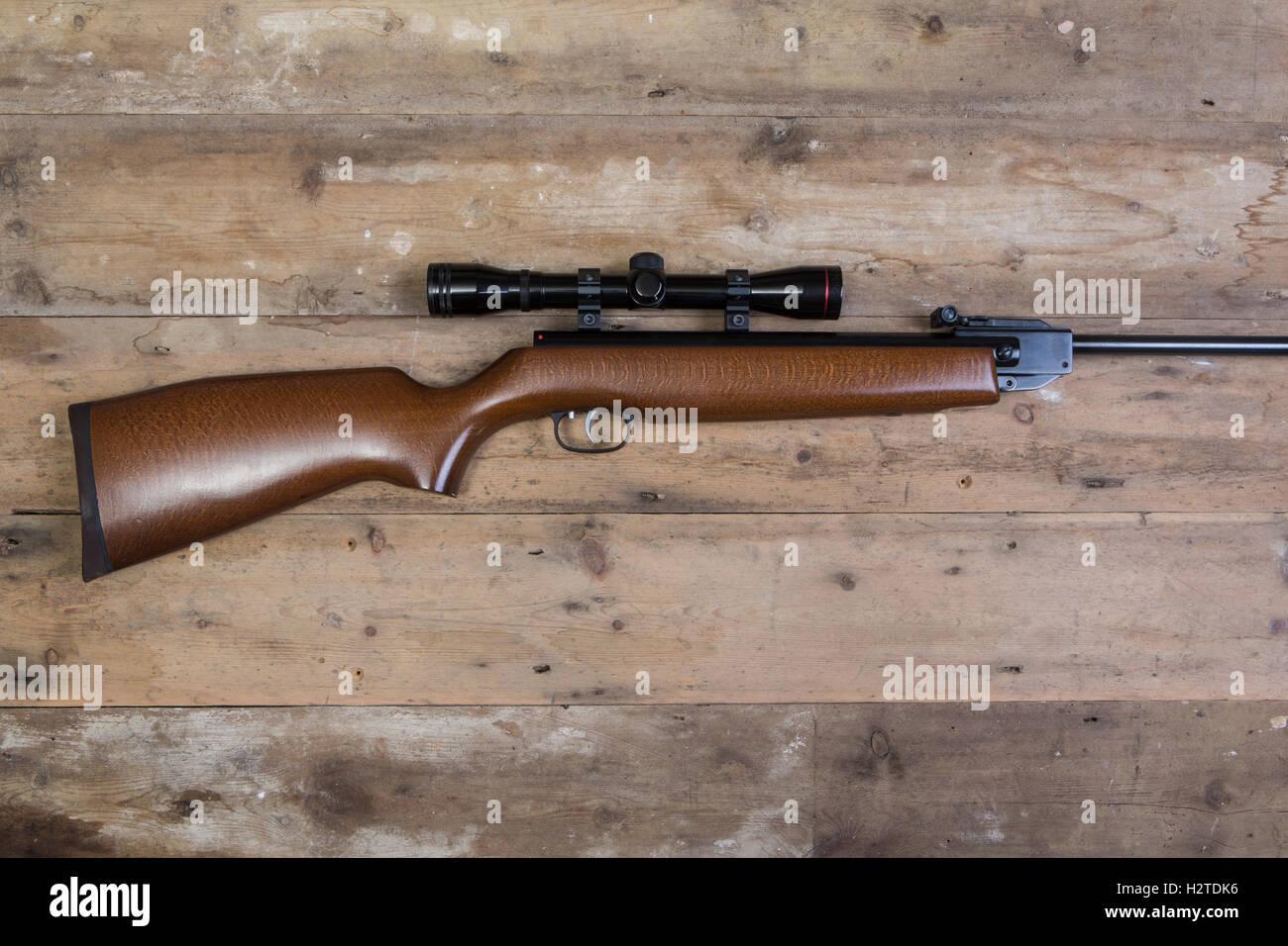 Luftgewehr mit einem zielfernrohr stockfoto bild: 122239466 alamy