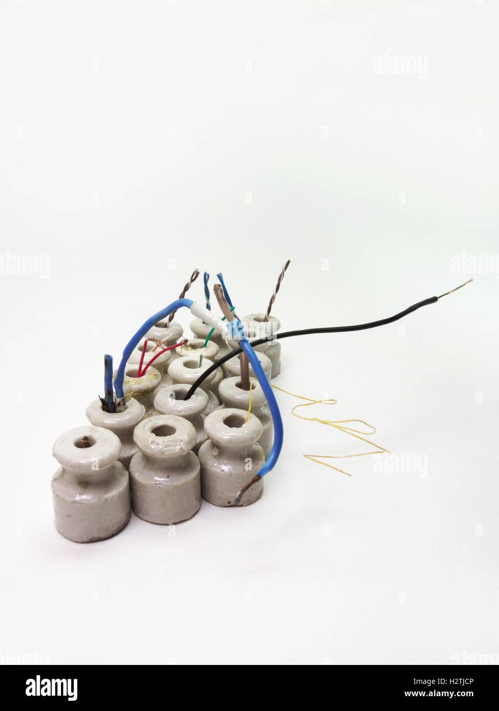 ceramic insulators stockfotos ceramic insulators bilder. Black Bedroom Furniture Sets. Home Design Ideas
