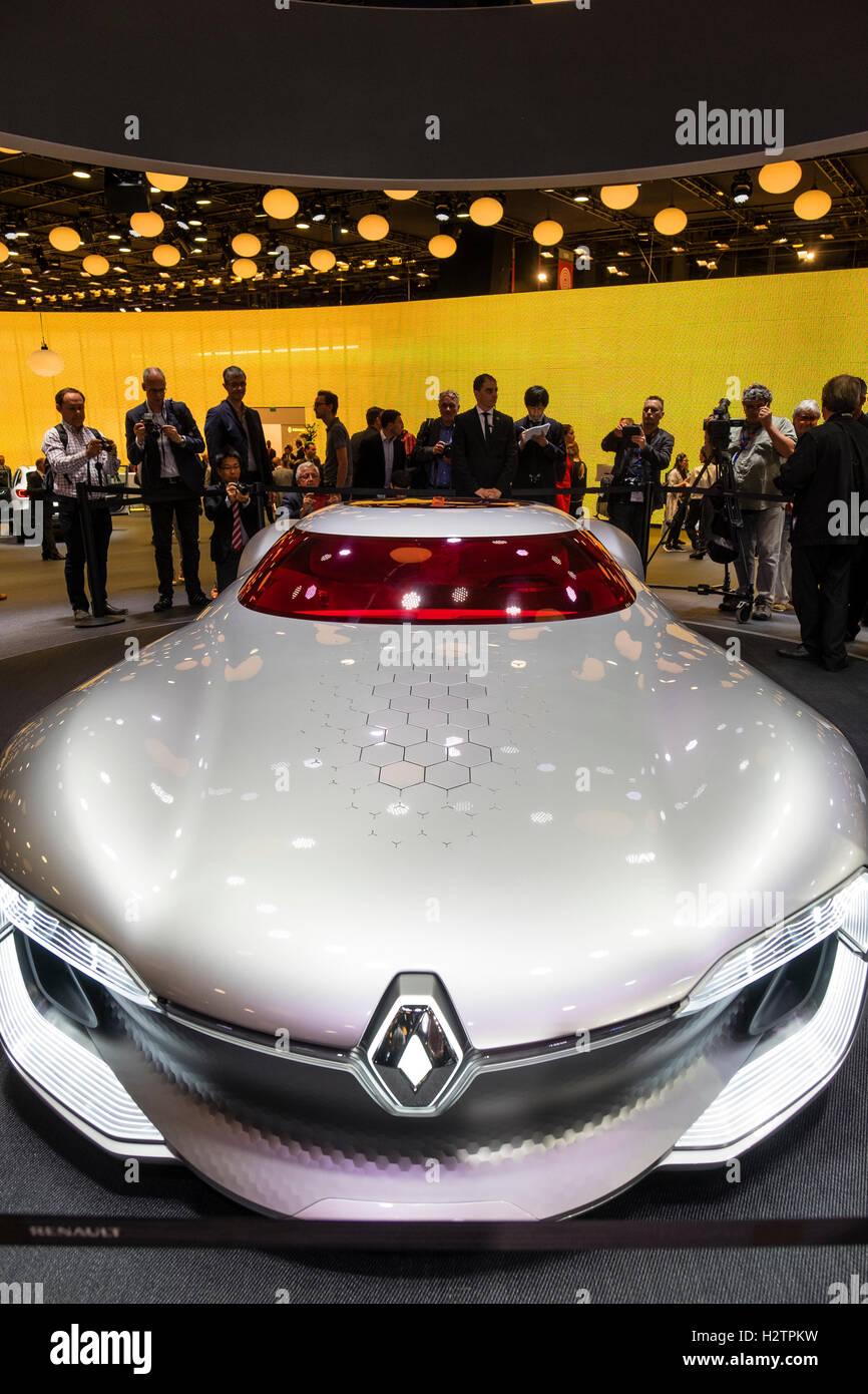 Weltpremiere des Renault Trezor Konzept Elektro-Supersportwagen auf der Paris Motor Show 2016 Stockbild