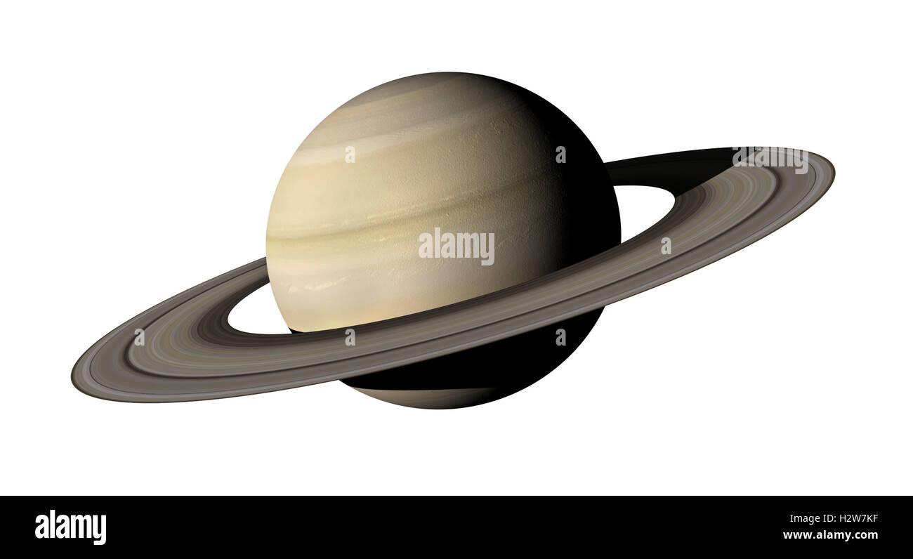 3d rendering des planeten saturn auf wei en hintergrund. Black Bedroom Furniture Sets. Home Design Ideas