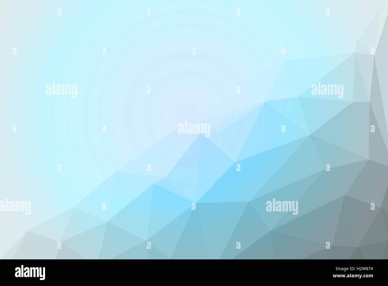 blau, grau und weiß Polygon für Hintergrund-Design Stockfoto, Bild ...
