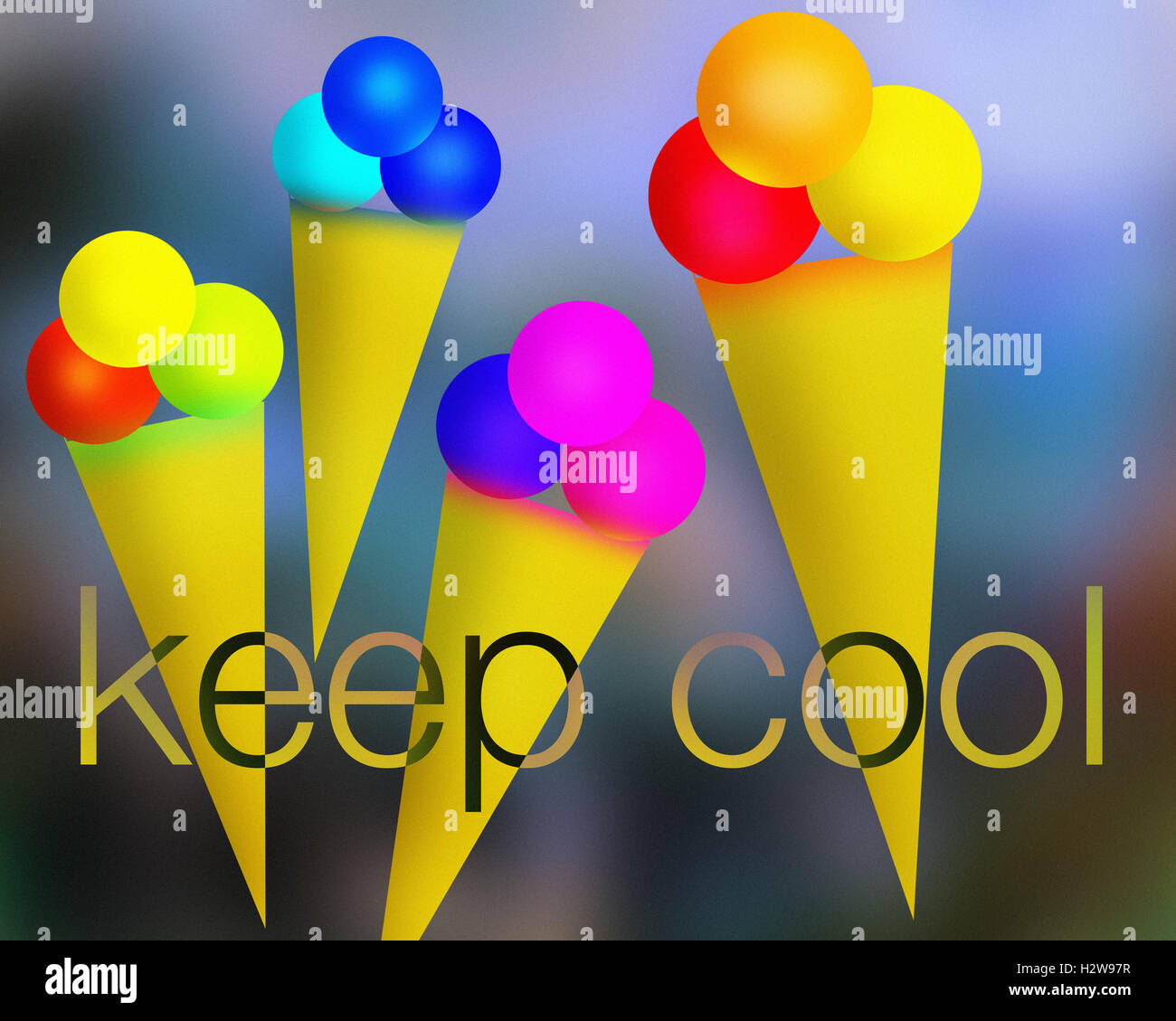 DIGITALE Kunst: Keep Cool Stockbild