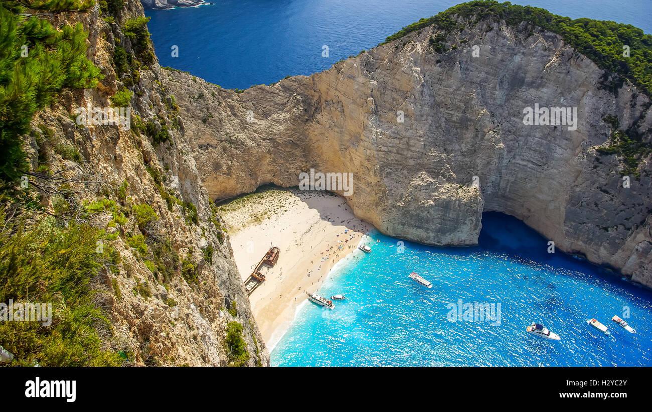 Navagio Strand Shipwreck Beach Insel Zakynthos Griechenland Die