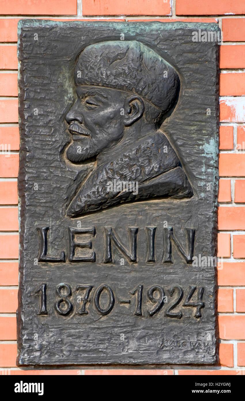 Lenin Plaque, Statuenpark, Memento Park, Szoborpark, Budapest, Ungarn, Europa Stockfoto