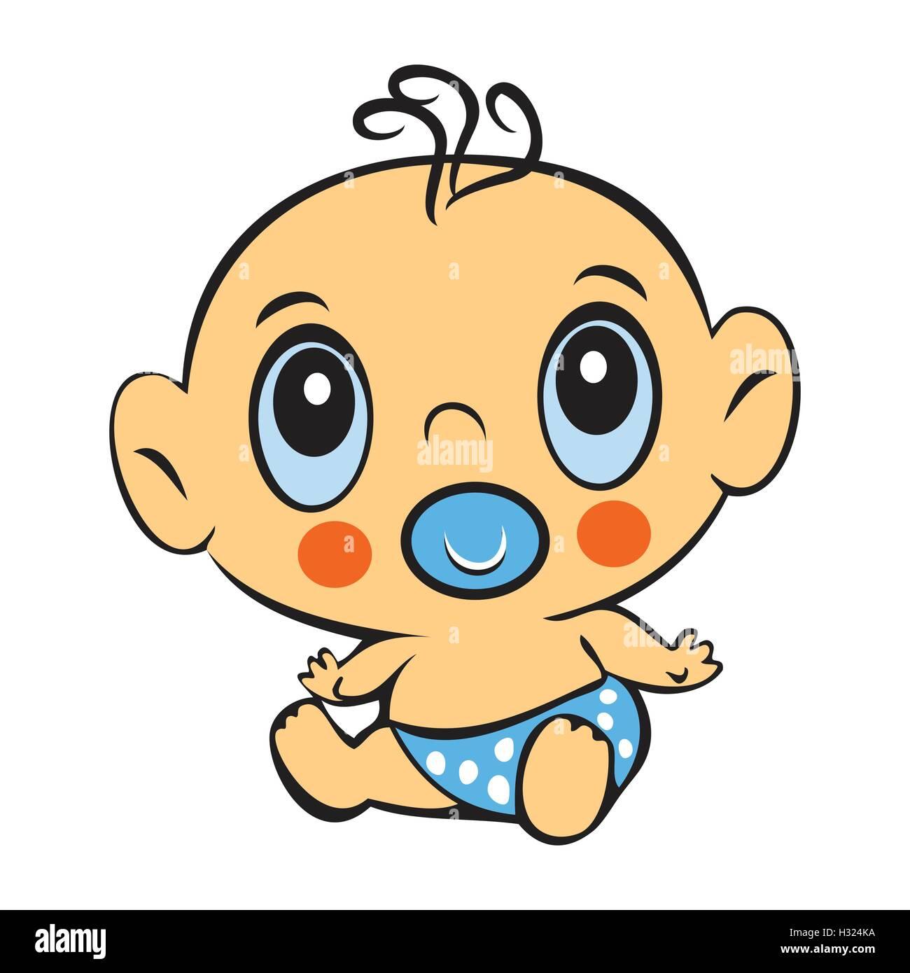 lustige baby boy niedliche baby junge sitzt in einer