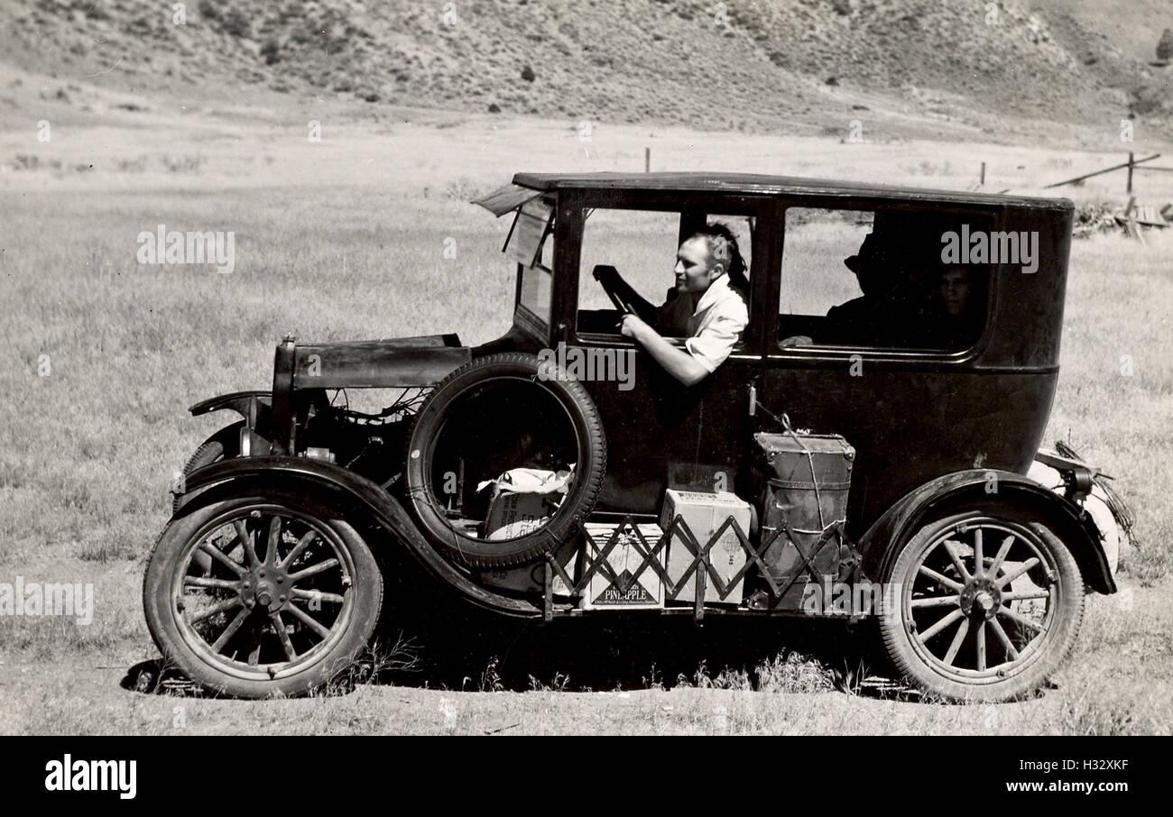 Altmodische Auto in Amerika im Jahr 1936 Stockbild