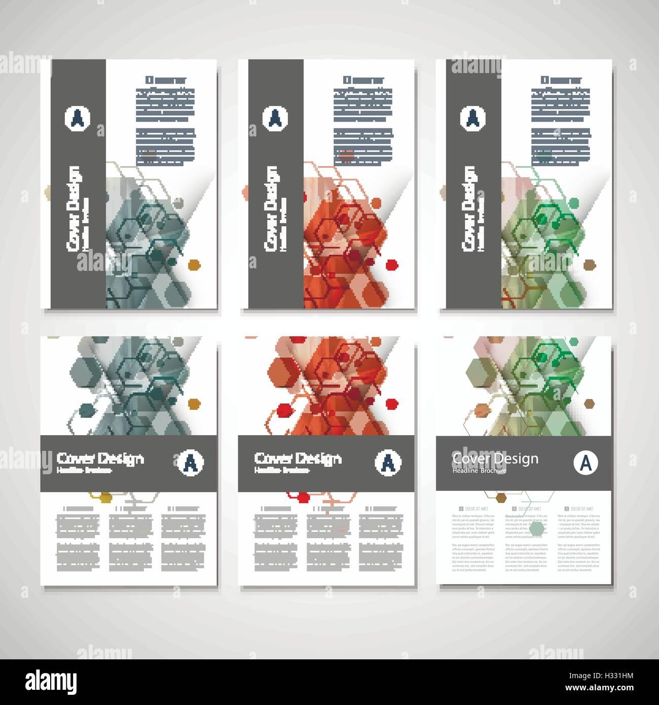 Abstrakte, Cover-Design, Business Broschüre Vorlage Layout ...