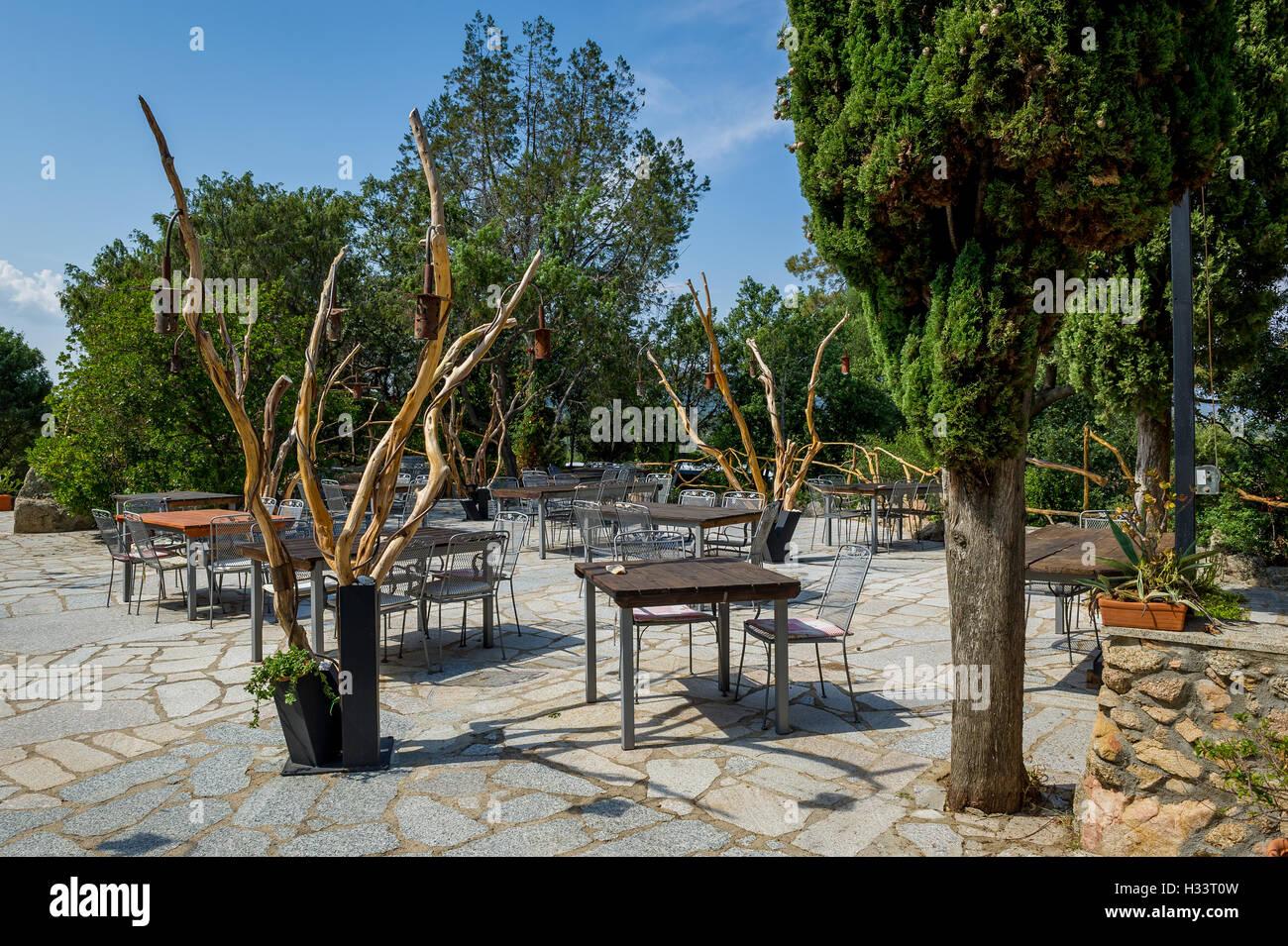Eco Tourismus Hofrestaurant in Sardinien. Stockfoto