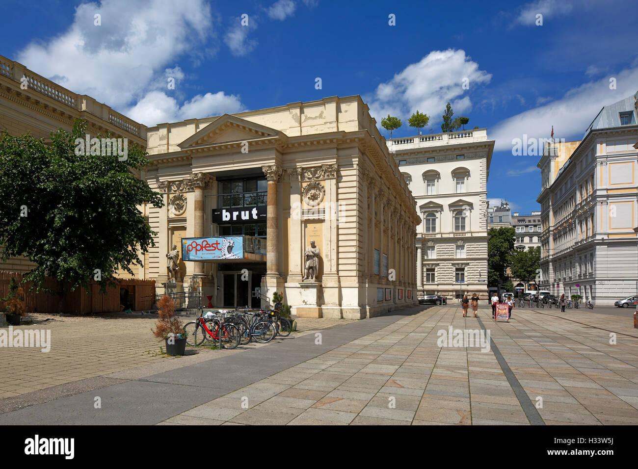 Künstlerhaus, Ausstellungsgebaeude, Theater Und Kino am Karlsplatz in Wien, Oesterreich Stockbild