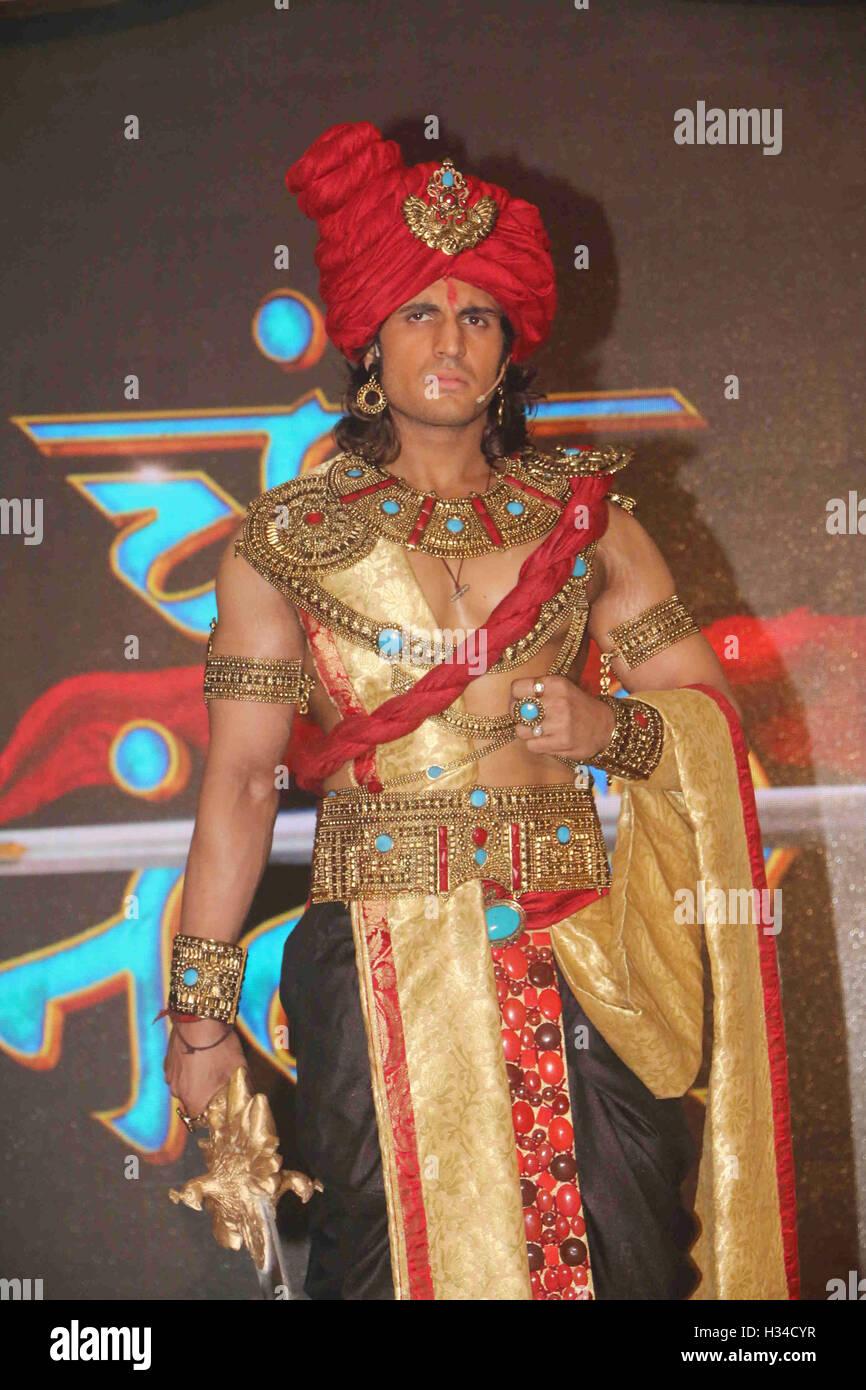 Fernsehschauspieler Rajat Tokas Pressekonferenz Der Star Plus Kanal