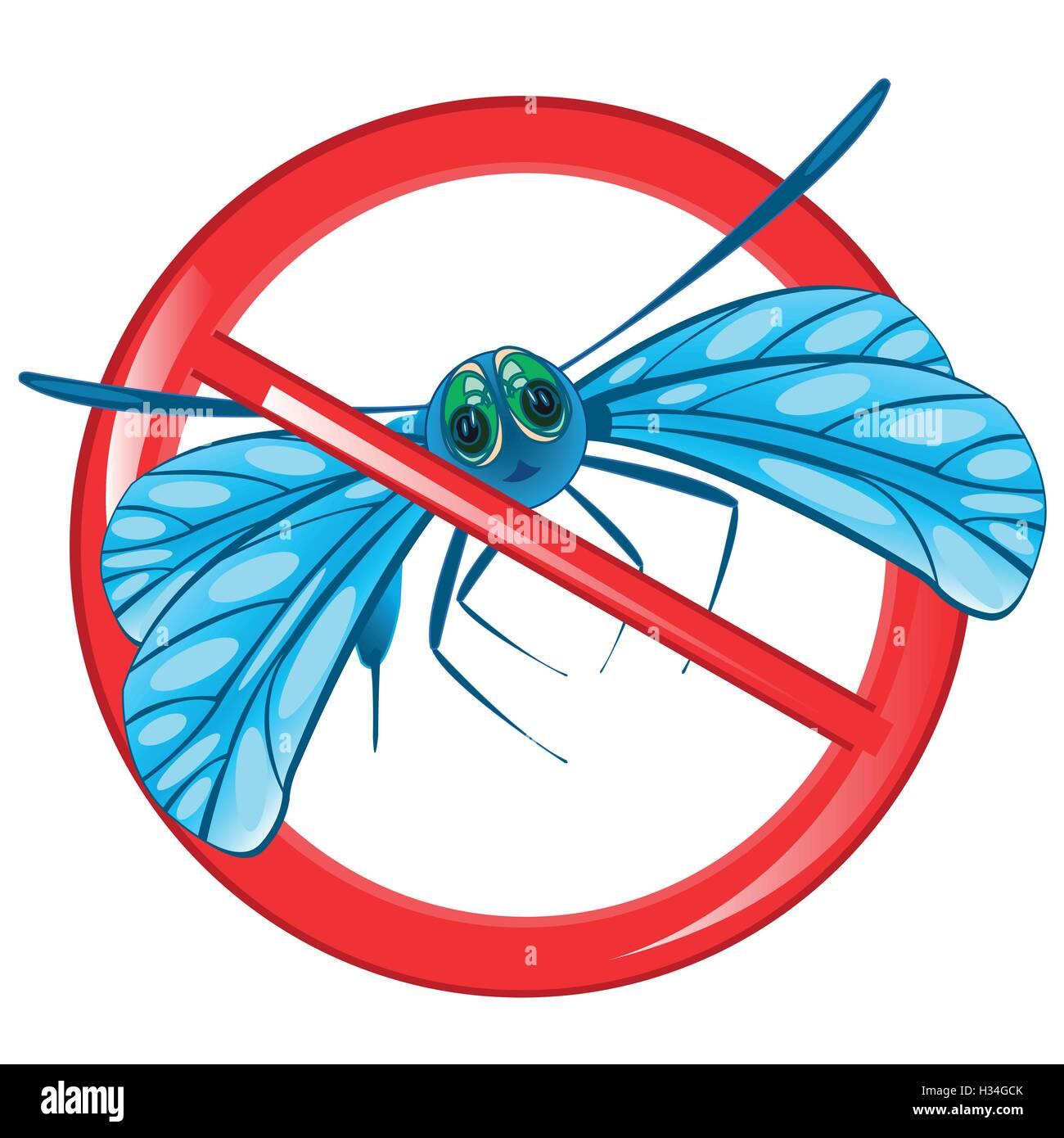 Zeichen Verbot Insekt Stockbild
