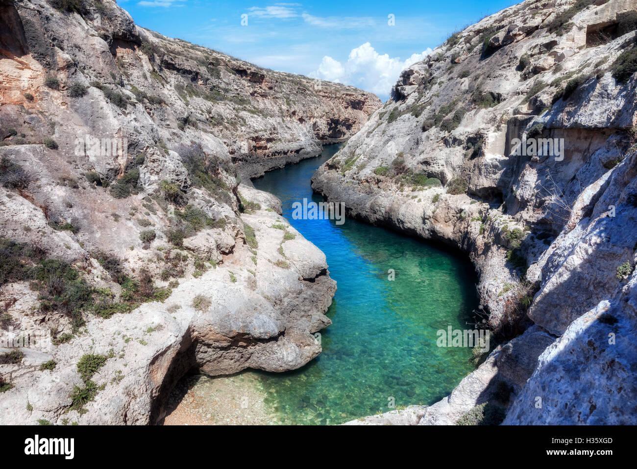 Ghasri Valley, Wied L-Ghasri, Gozo, Malta Stockbild