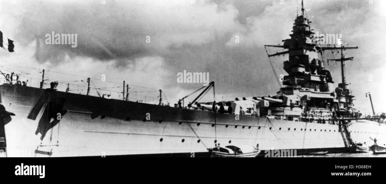 """""""Das Schlachtschiff '' Dunkerque'', 1940"""" Stockbild"""