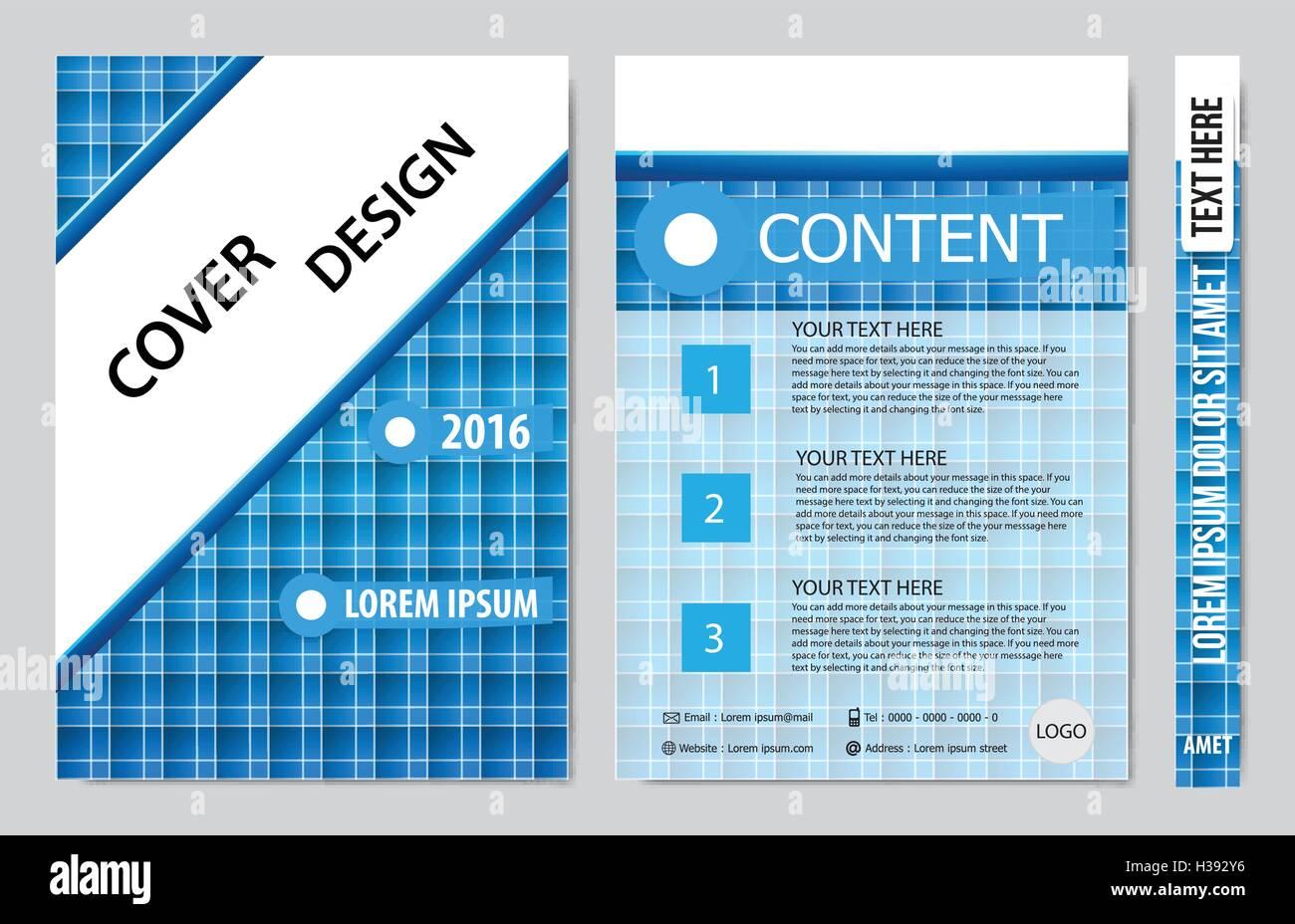Buch-Präsentation-Layout-Design-Vorlage-Hintergrund zu decken Vektor ...