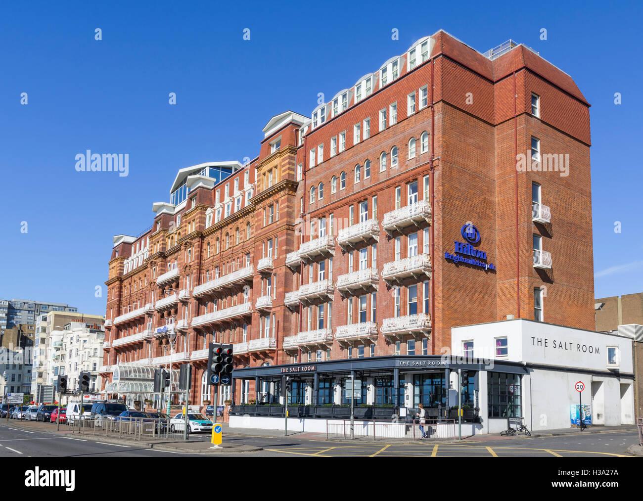 Hilton Brighton Metropole Hotel, ein viktorianisches Hotel in der Nähe von der Küste von Brighton, East Stockbild