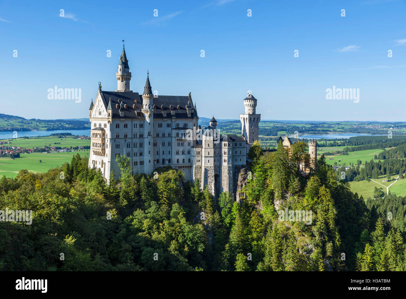 Schloss Neuschwanstein (Schloss Neuschwanstein), die märchenhaften Palast, erbaut von König Ludwig II. Stockbild
