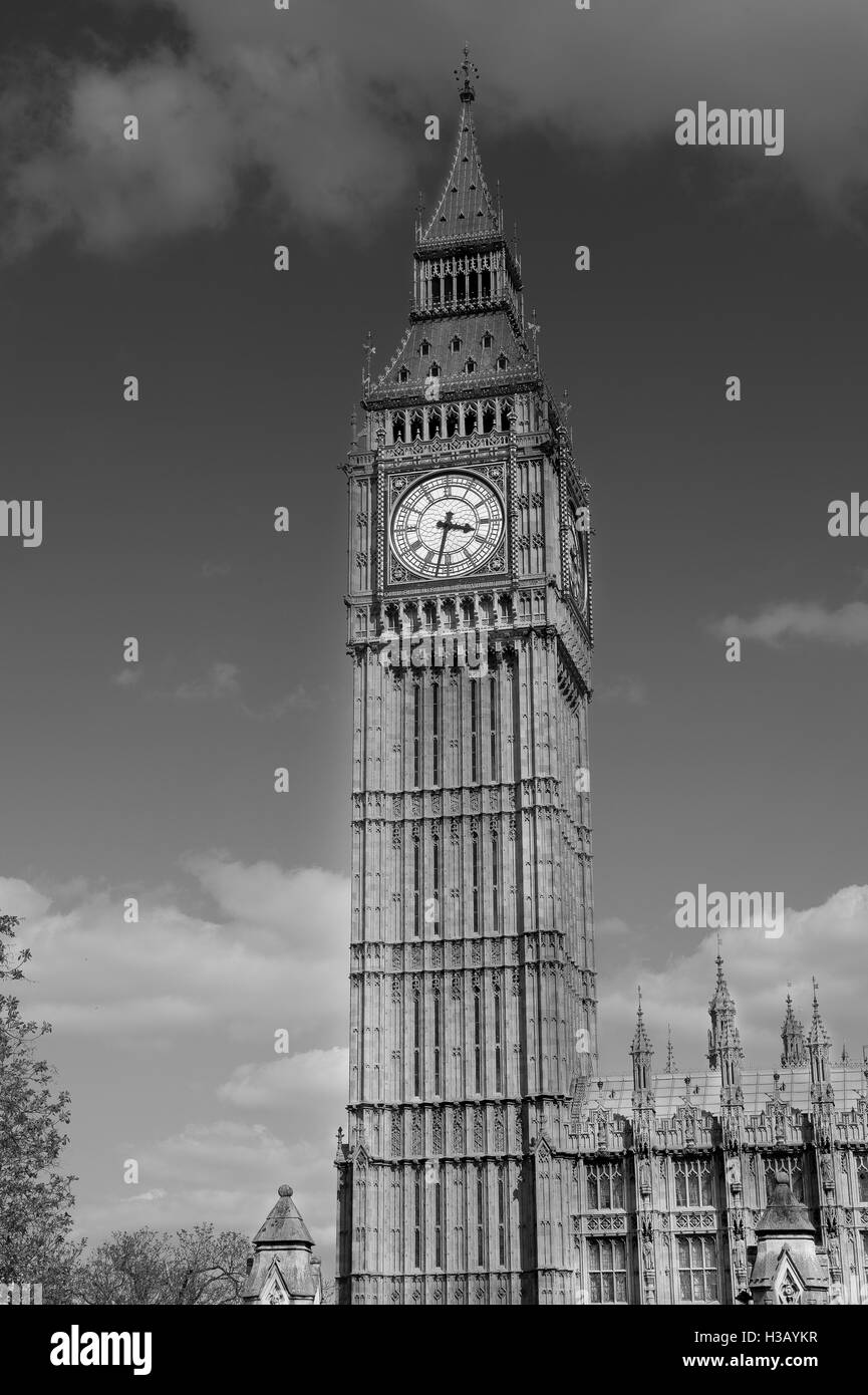 big ben london schwarz wei stockfoto bild 122557787 alamy. Black Bedroom Furniture Sets. Home Design Ideas