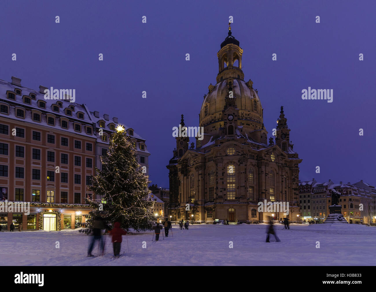 dresden frauenkirche winter stockfotos dresden. Black Bedroom Furniture Sets. Home Design Ideas