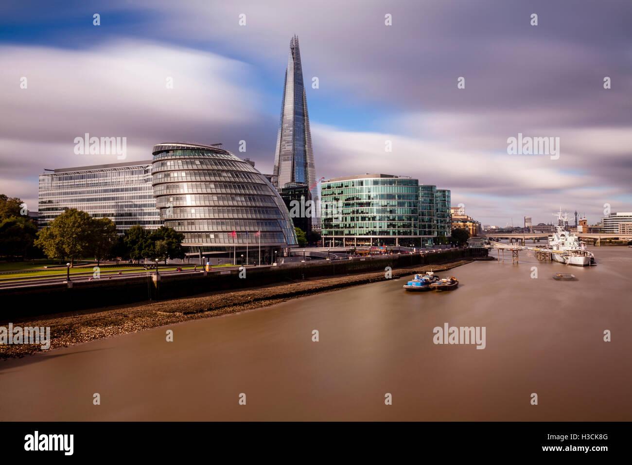 Skyline von London und die Themse, London, UK Stockbild
